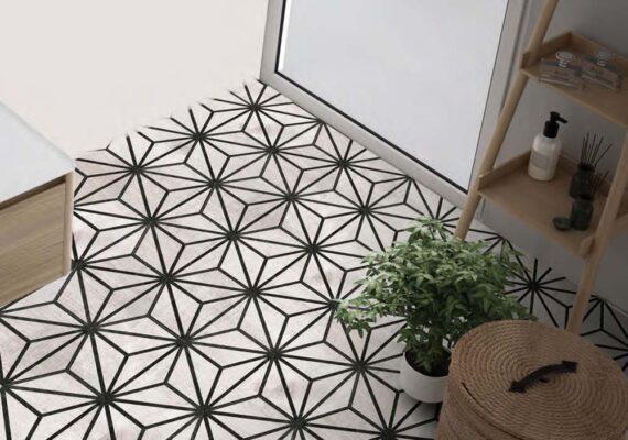 Shapes Aura pattern grey room